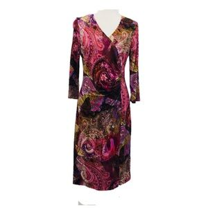 Size 40 (US 10) BASLER Paisley Print Viscose Dress